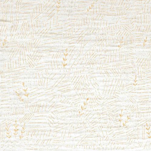 Tissu Mousseline Blanc Champ de Blé