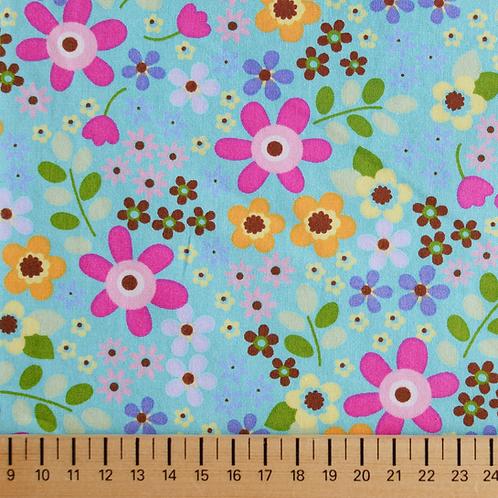 tissus matières la popeline fleurs heidi multicouleurs aay e-commerce à Kerlouan en France