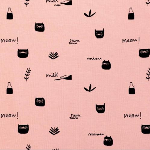jersey-matière-chat-tissu-rose-marque-katia