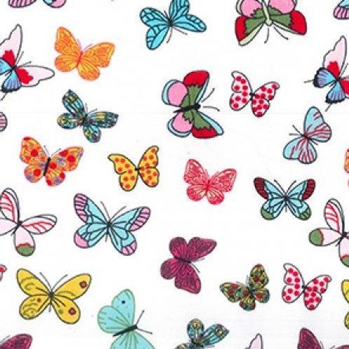 Popeline Papillons Multi couleurs