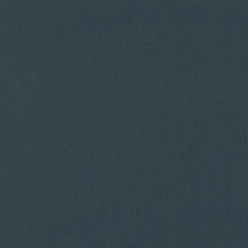 Bio Tissus Bord Côte 1x1 Textile GOTS Couleur Unie Bleu Mirage