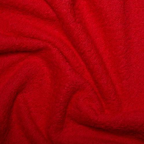 COUPON Tissu éponge Couleur Unie rouge