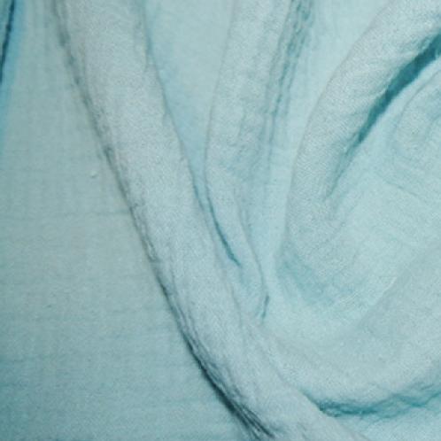 Mousseline ou Double Gaze Bleu pastel