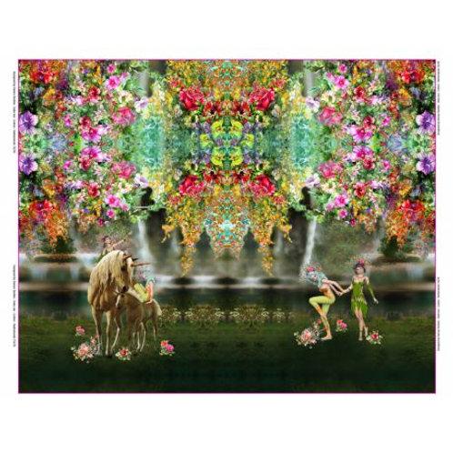 Panneau Tissu Jersey Stenzo fées de la forêt