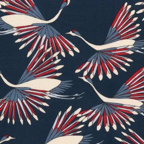 Le-jersey-bio-gots-tissu-bleu-design-grues-en-vente-aux-ateliers-dyvonne-à-kerlouan