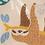 popeline-tissu-paresseux-des-tropiques-sur-fond-beige-3-en-vente-aux-ateliers-dyvonne-a-kerlouan
