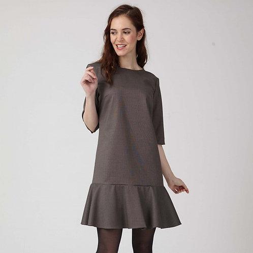 c'est moi le patron femme robe marron recto en vente chez aux ateliers d'yvonne à kerlouan en france