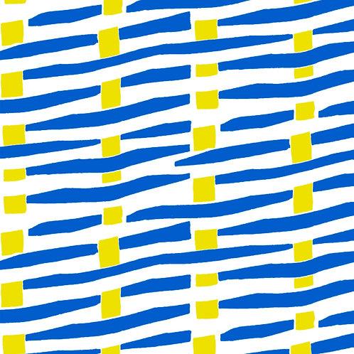 Tissu Toile Canvas Abstrait Bleu