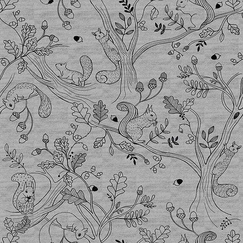 Sweat Ecureuil sur Fond gris chiné