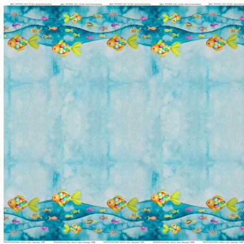 Jersey Stenzo imprimé double bord poissons
