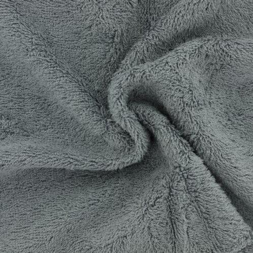 Tissu éponge Bambou Couleur Unie Gris