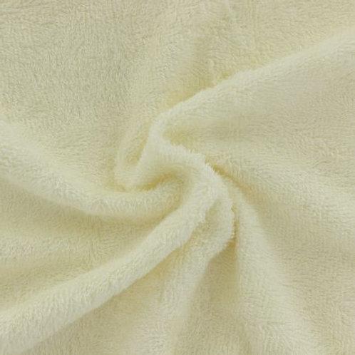 Tissu éponge Bambou Couleur Unie Crème
