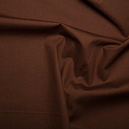 Tissus Matière popeline couleur unie marron AAY e-commerce à Kerlouan en France
