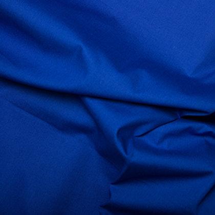 Popeline Couleur Unie Bleu Royal