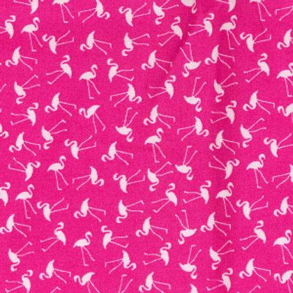tissus matières popeline origine  rose et flamants roses AAY e-commerce à Kerlouan en France