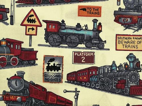 Popeline Imprimés Trains