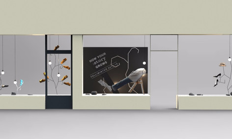 display window for fashion company