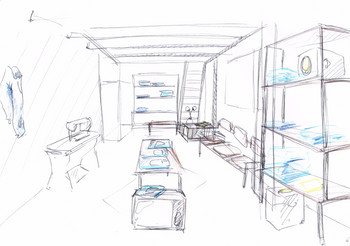 planing colored sketch  for popup event
