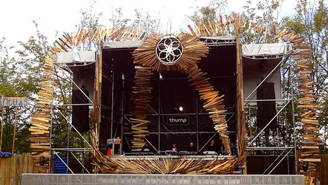 stage design for music festival in Amsterdam