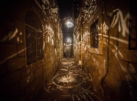 light installition for Jerusalem