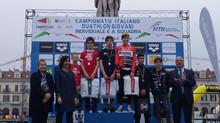 Campionati Italiani Duathlon giovani a Cuneo. Sebastian sul gradino più alto del podio