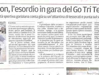 """Press room - Il Piccolo: """"L'esordio in gara del Go Tri Team"""