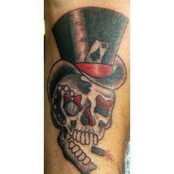 Fun skull on a rad dude
