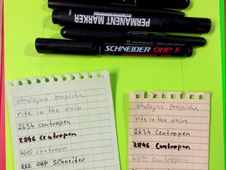 Waterproof notebook and pens