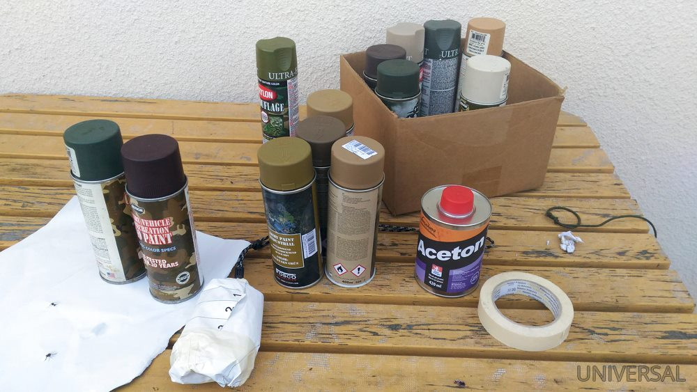 Maskování barvami