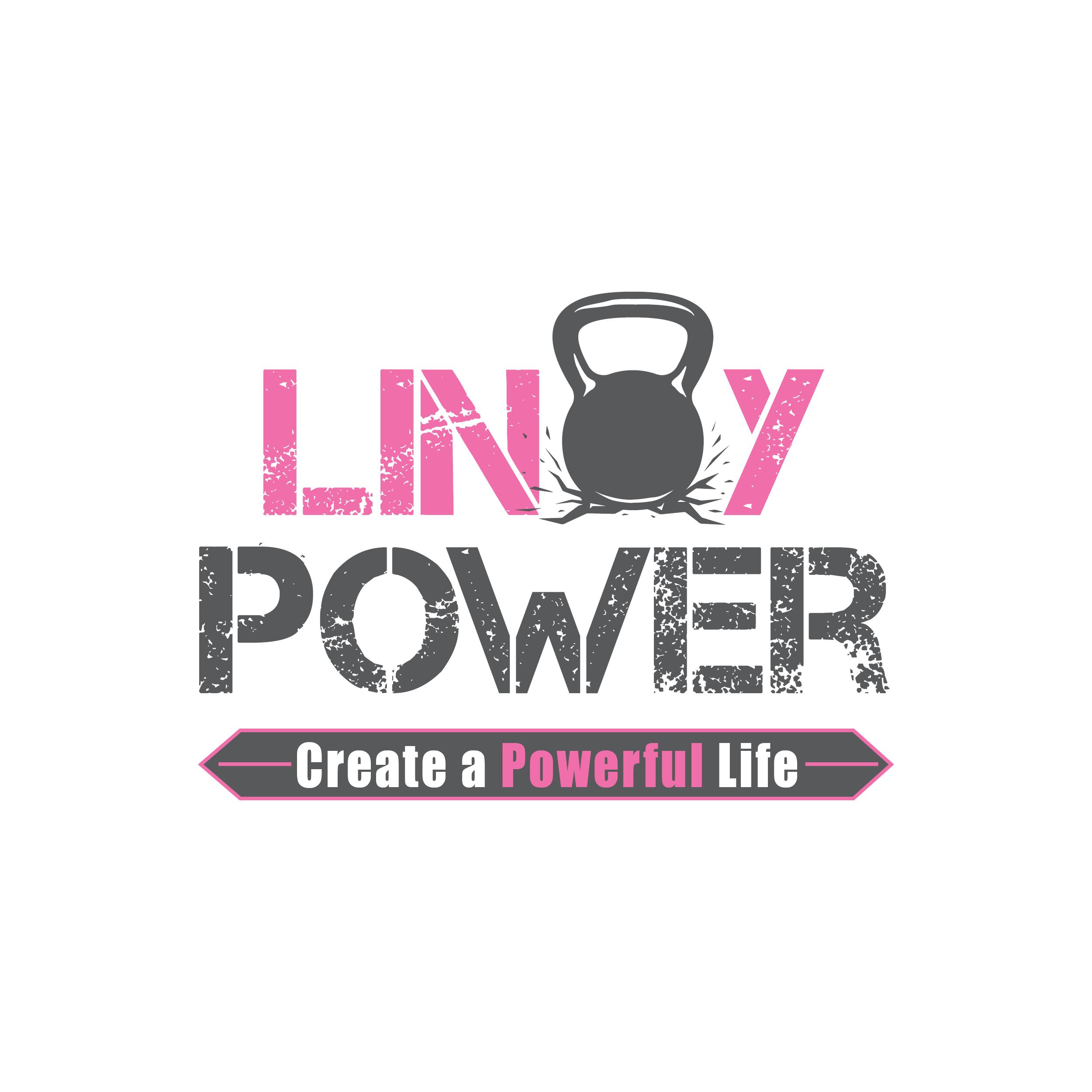 Linoy Power fitness trainer logo design.