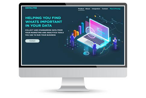 Datalyse startup cloud data web design l