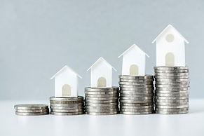macro-shot-increase-mortgage-rate-concep
