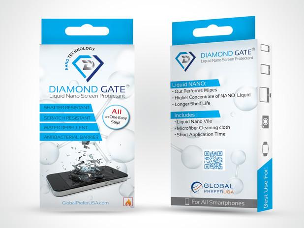Mobile phone package label mock up desig