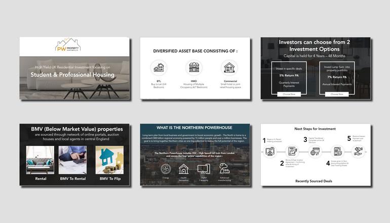 Investment Startup Pitch Deck Design