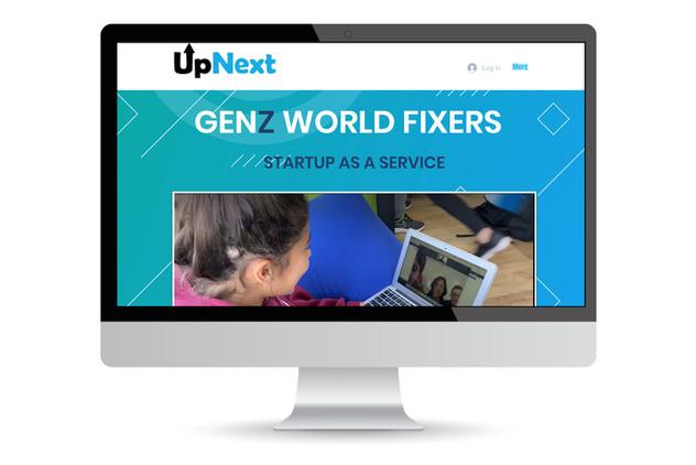 Wix portfolio for Israeli startup UpNext