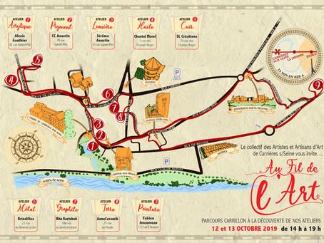 Au fil de L'art - Parcours Artistique les 12 & 13 Octobre 2019 à Carrières sur Seine