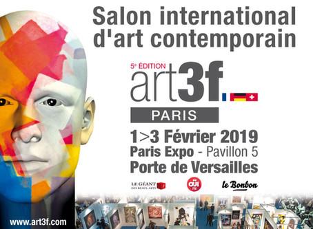 Février 2019 : Salon International d'Art Contemporain ART 3F - Porte de Versailles, Paris