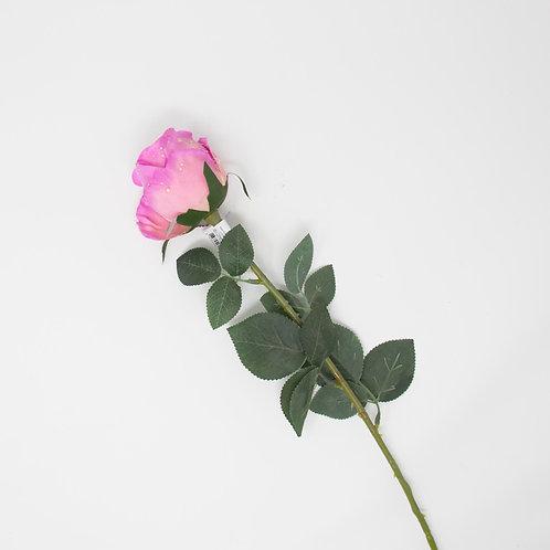 SINGLE ROSE W/WATERDROP