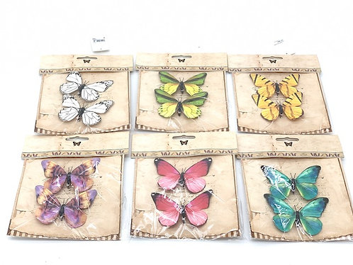 11CM PAPER BUTTERFLY,2PC/BAG