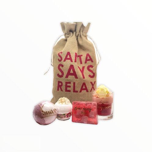Santa Says Relax Christmas Gift Set