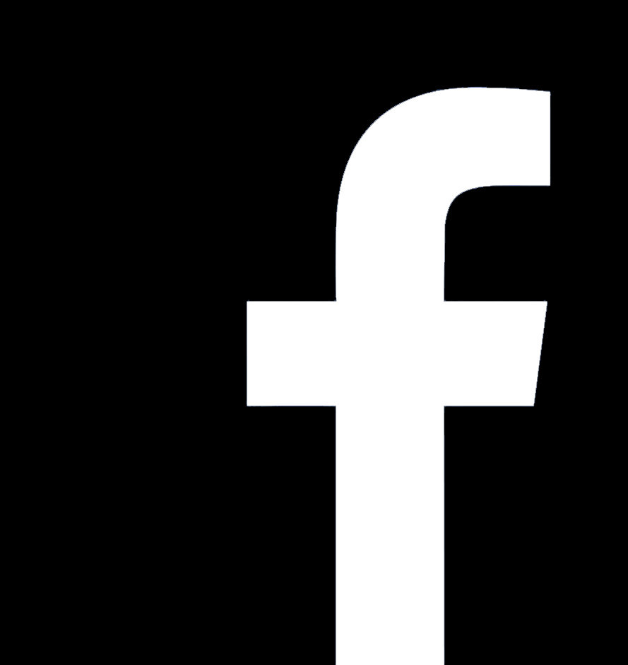 facebook logo black