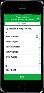 Balto Chat App Screenshot Contact List