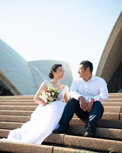 Honeymoon photo shoot of these two beaut