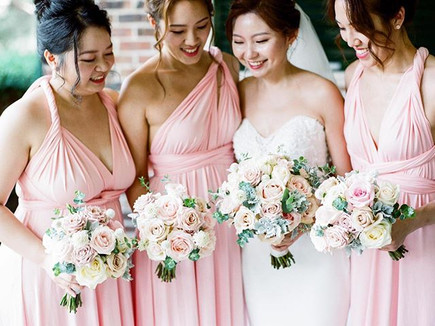 Beautiful bride Sunny and her bridesmaid