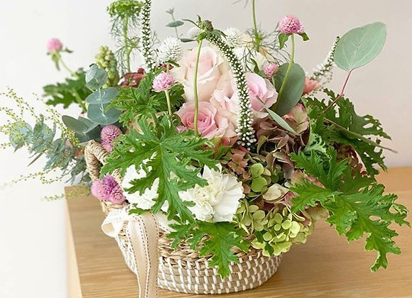 French style large floral basket