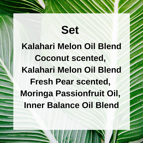 Small Set: Kalahari Melon Oils & Moringa Oils