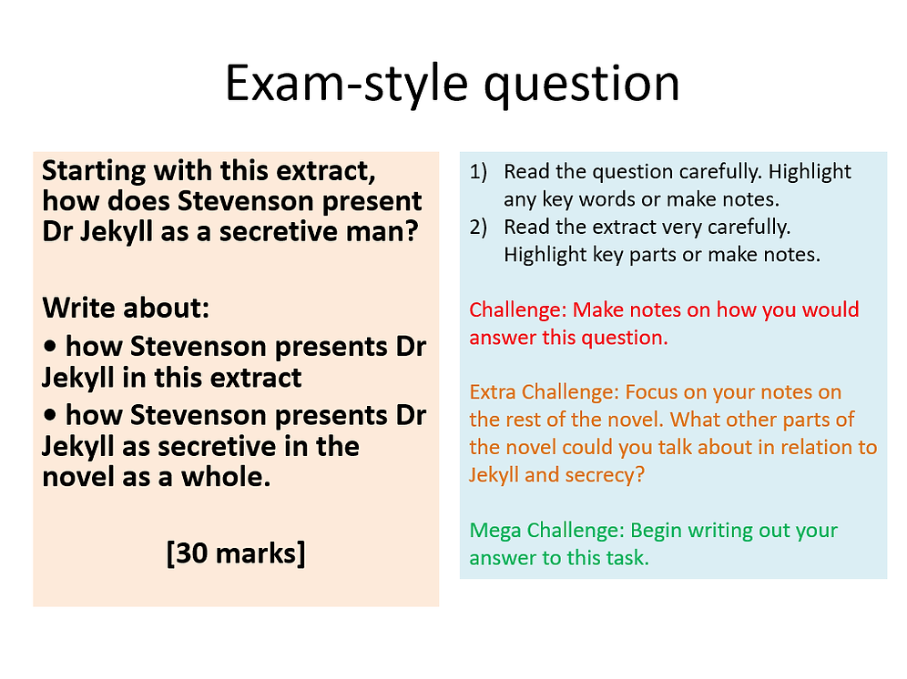 Jekyll and Hyde - Revision Session 2