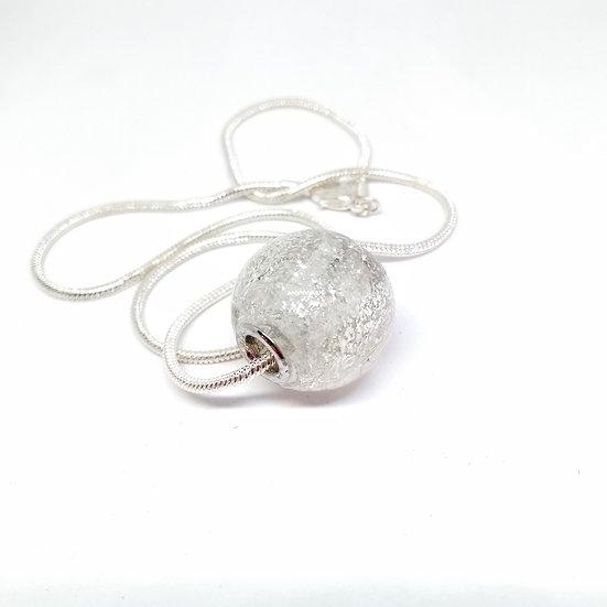 Perle pailletée transparente