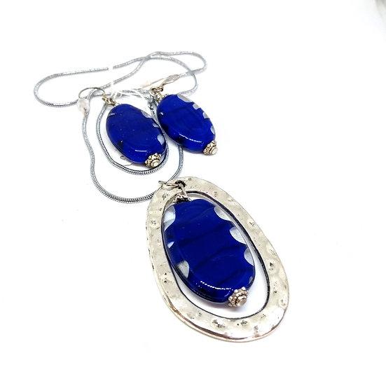 Parure Lila bleue cobalt
