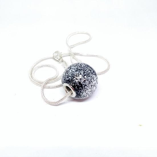 Perle pailletée noire